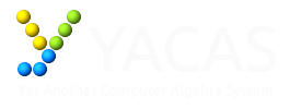 Yacas – Computer calculations made easy